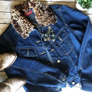 Esprit Cropped denim jacket